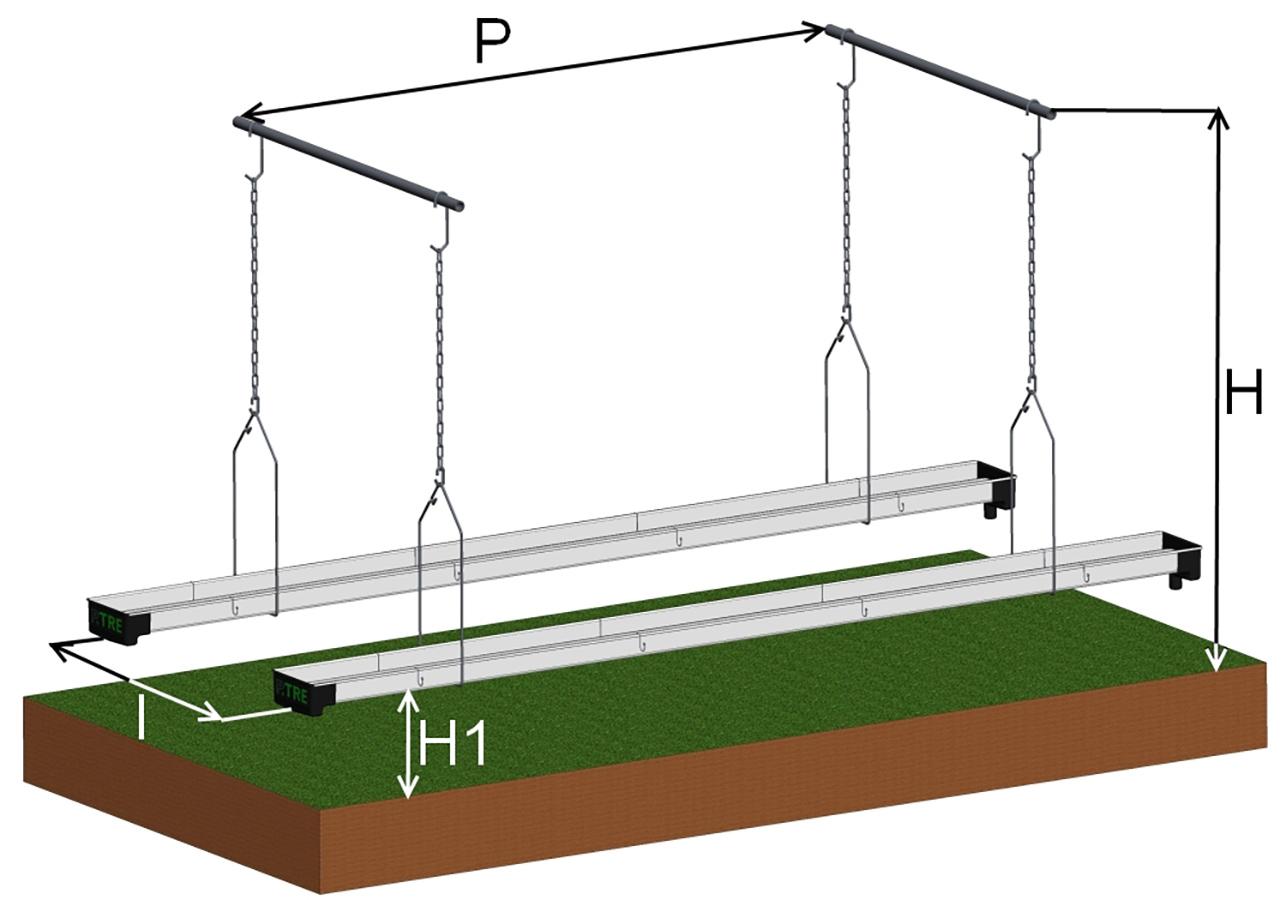 Disegni Tecnici sistemi di Canalina Frutta Appesa