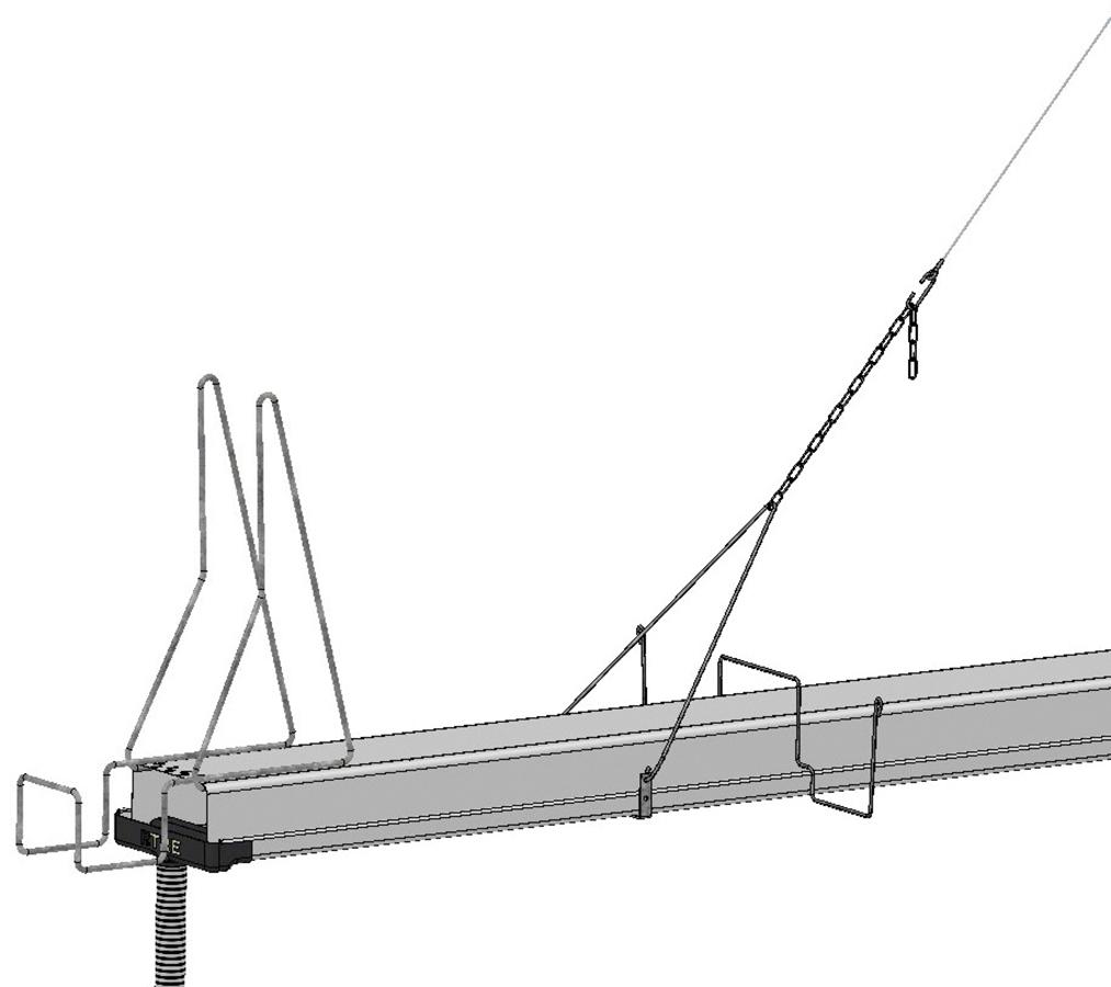 Sistemi di canalina appesi KITCOMP per ortaggi calata compensazione