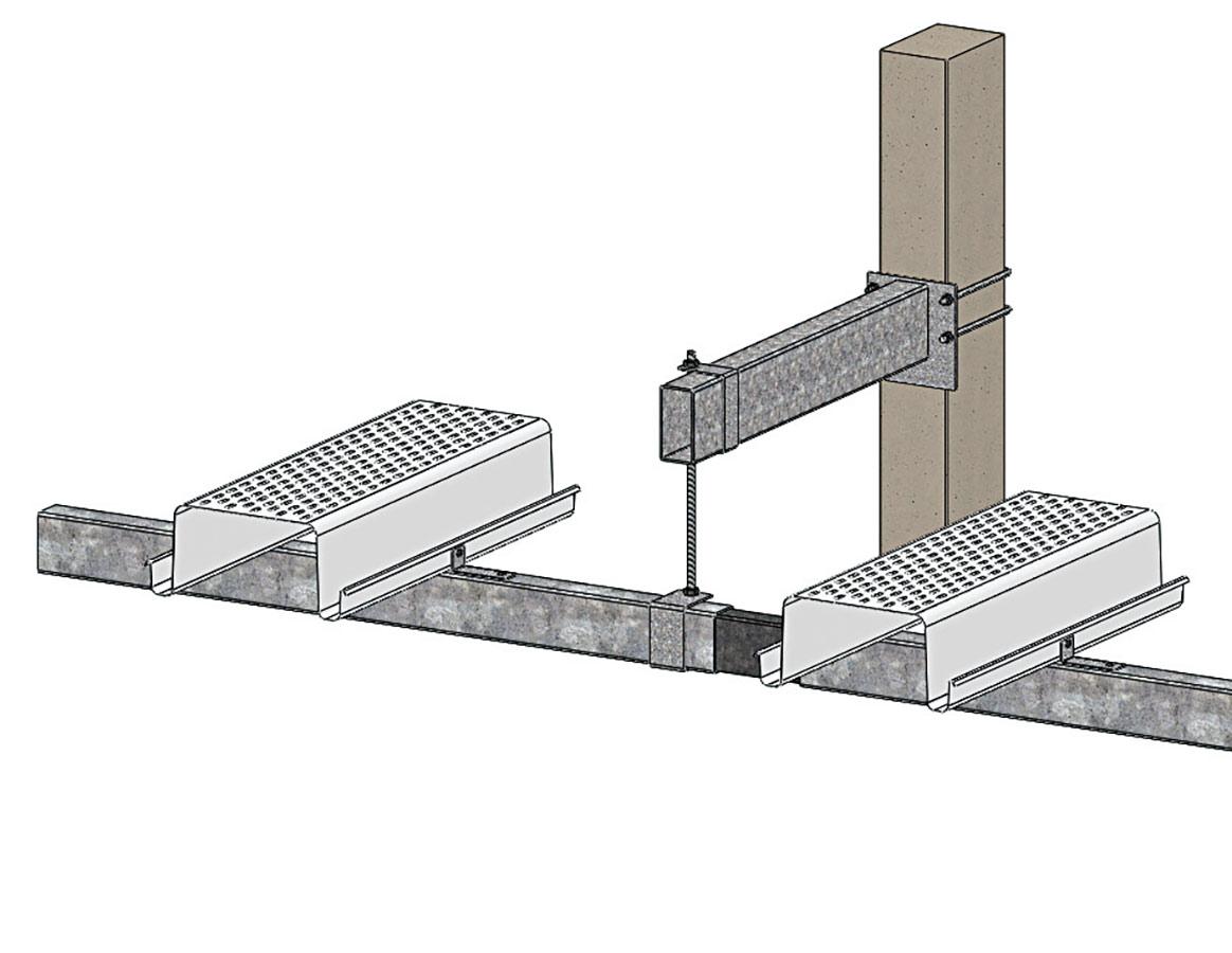 Sistemi di canalina appesi gabbia con canalina C.33 S.10